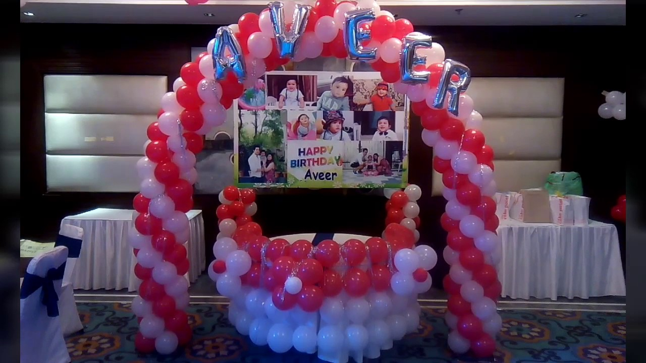 Decoration for birthday party at home with balloons be for Balloon decoration at home