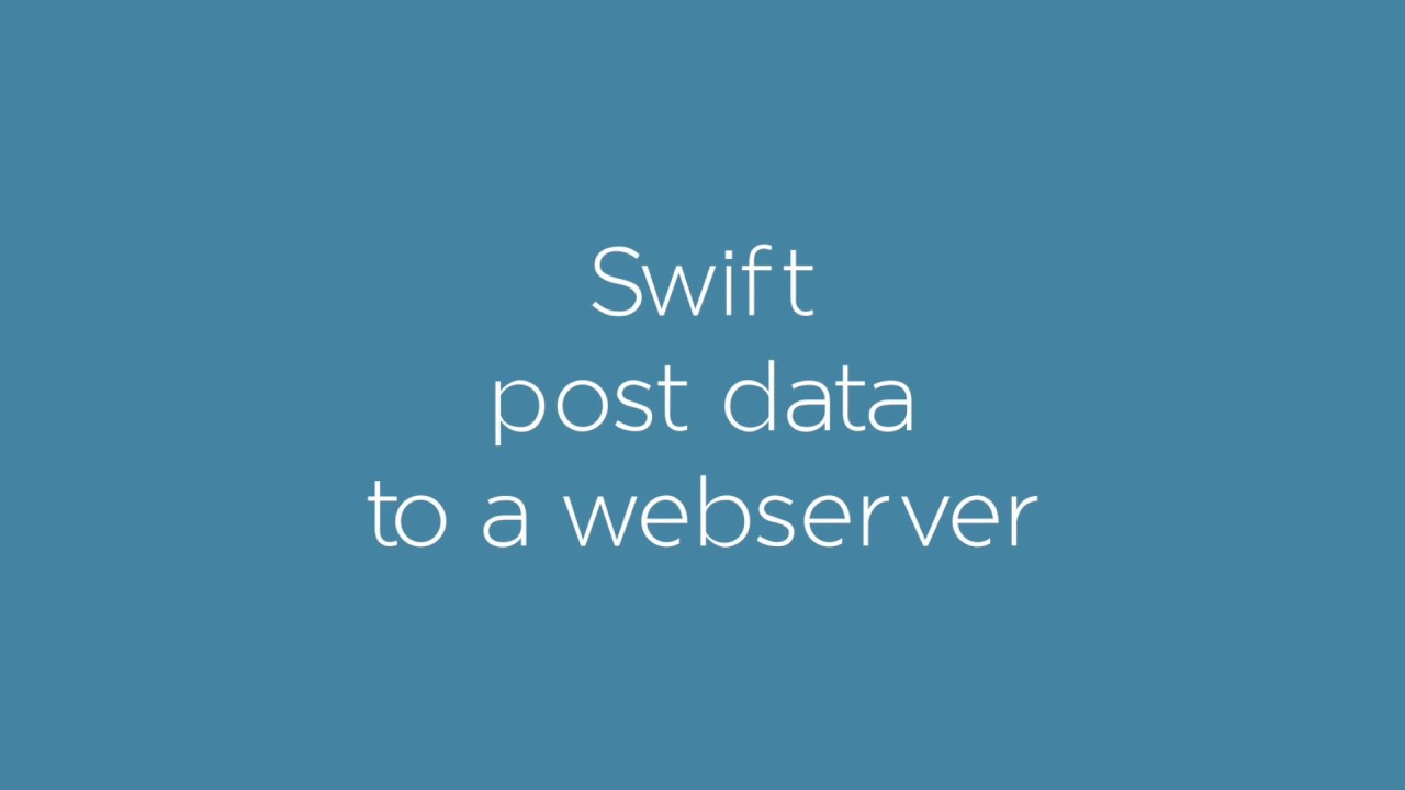 NSURLSession in Swift: get and post data