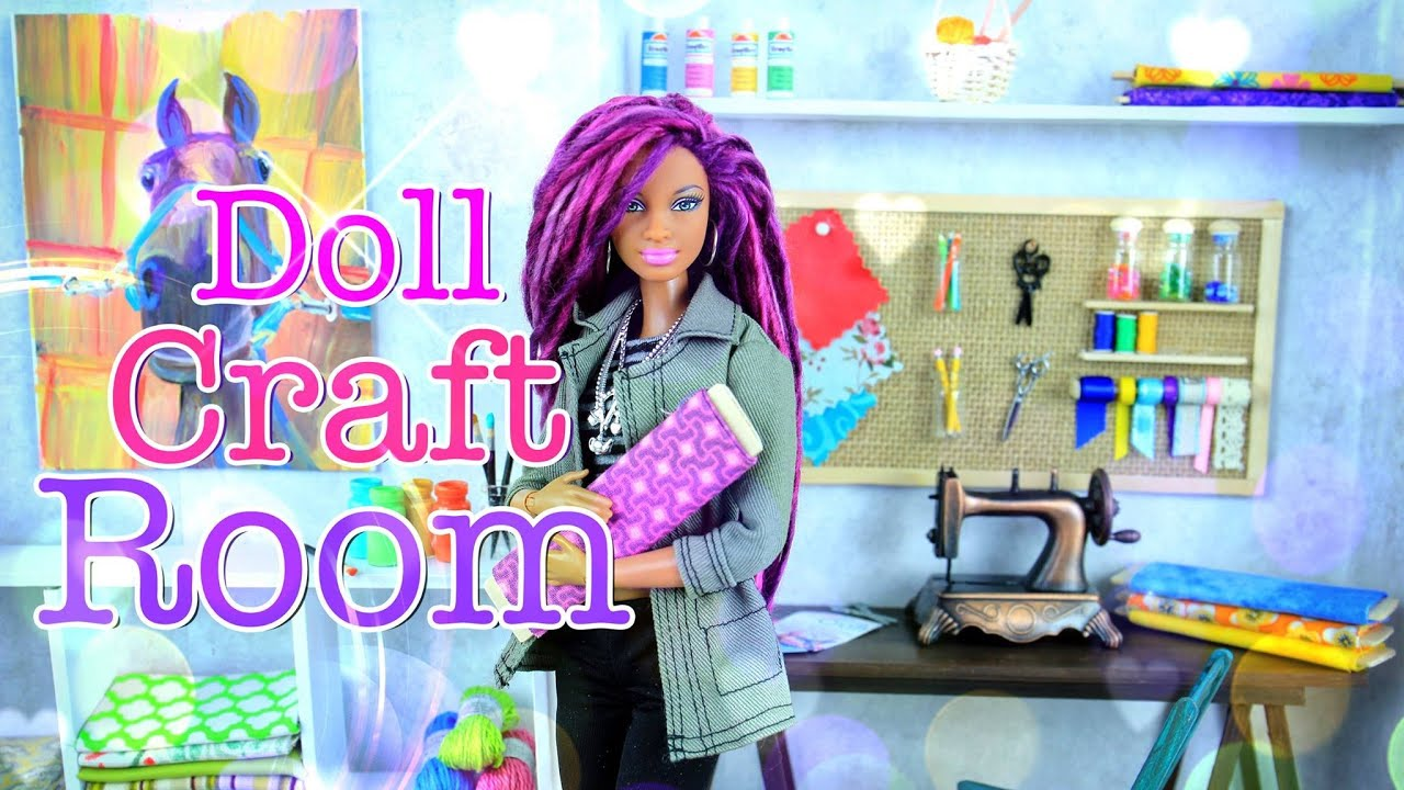 Barbie Bedroom In A Box: How To Make: Doll Room In A Box: Craft Room
