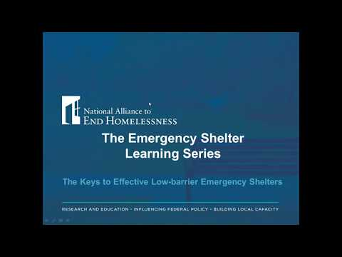 The Keys to Effective Low Barrier Emergency Shelters