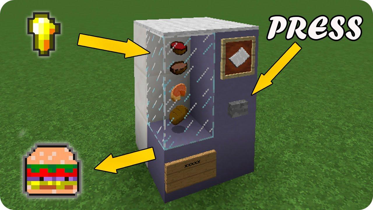 Como hacer una maquina expendedora autom tica en minecraft for Como echar gotele sin maquina