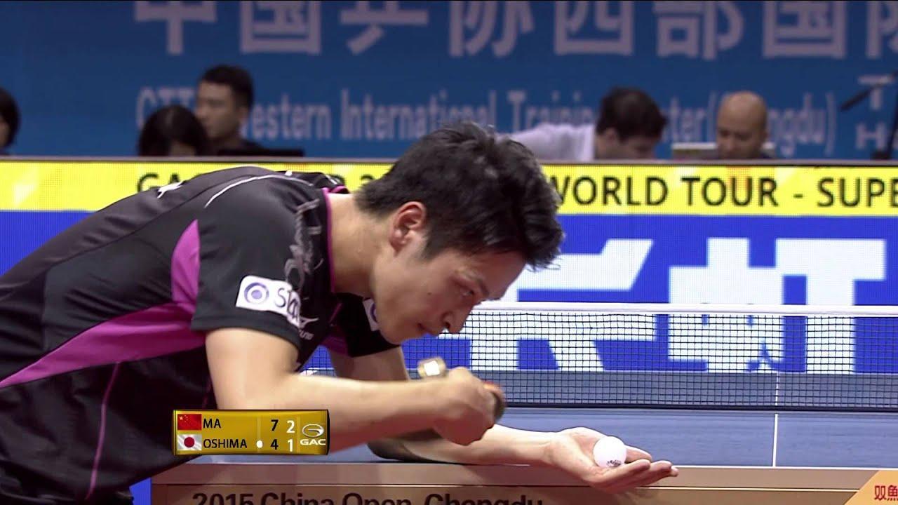 2015 China Open Ms Sf Ma Long Yuya Oshima Full Matchshort Form