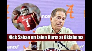 Nick Saban comments on Jalen Hurts