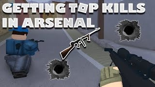 WINNING FIRST ROUND !! :ROBLOX ARSENAL GAME