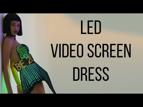 Smart LED Dress With Logo Belt By ETERESHOP