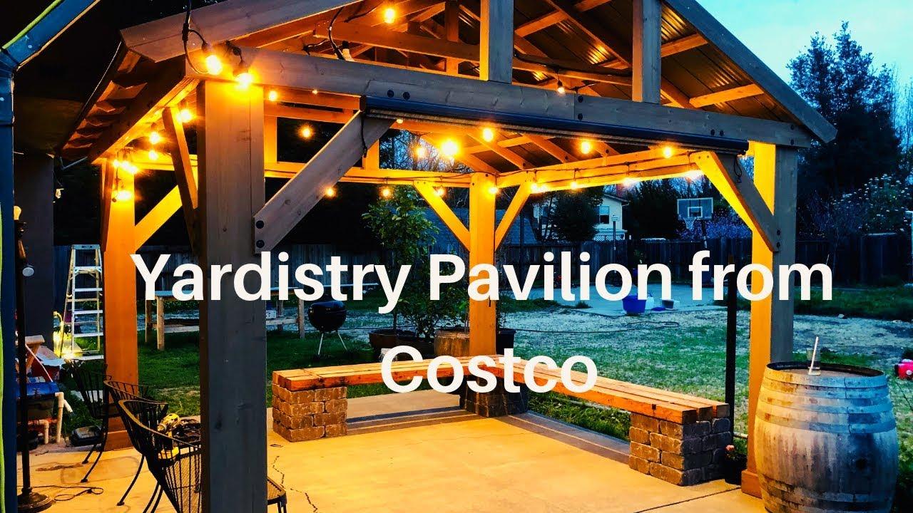 Costco 12X14 Yardistry Pavilion helpful tips | How to DIY ... on Yardistry Backyard Pavilion id=41880