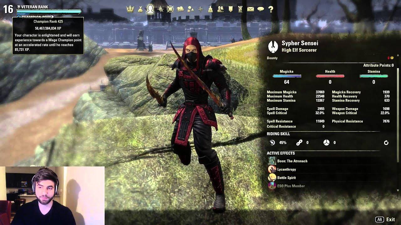 Teso Best Sorcerer Build