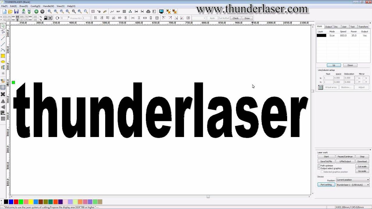 laser cutter software rdworks v8 tutorial 17 How to Send ...