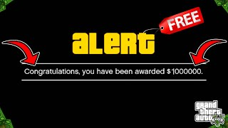 How To Get Your FREE $1,000,000 NOW In GTA 5 Online!
