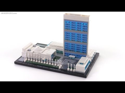 LEGO Architecture United Nations Headquarters review - set 21018