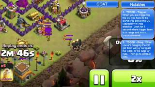 "Clash of Clans -- ""Hero and the Goat"" Screencast -- JTJ vs ""clan of bros"" (10/17 CW)"
