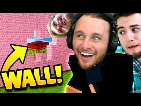 BUILD A WALL LIKE TRUMP   Minecraft Bed Wars 3v3