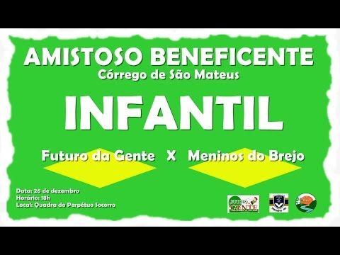 TV CÓRREGO - Amistoso beneficente Infantil