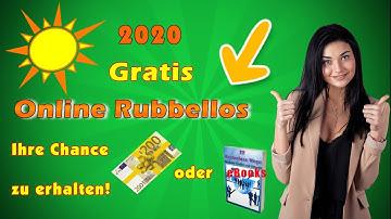 mit dem gratis online rubbellos 200 euro erhalten.