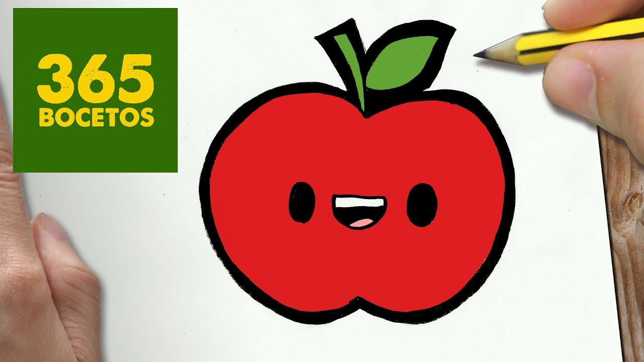 Como Dibujar Manzana Kawaii Paso A Paso Dibujos Kawaii Faciles How To Draw A Apple