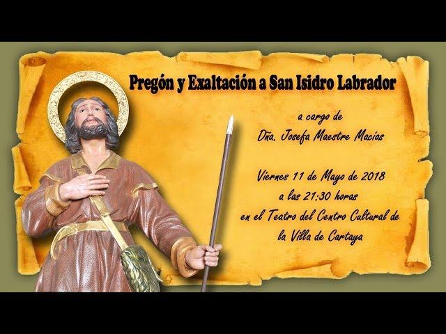 Pregón y Exaltación a San Isidro Labrador de Cartaya 2018