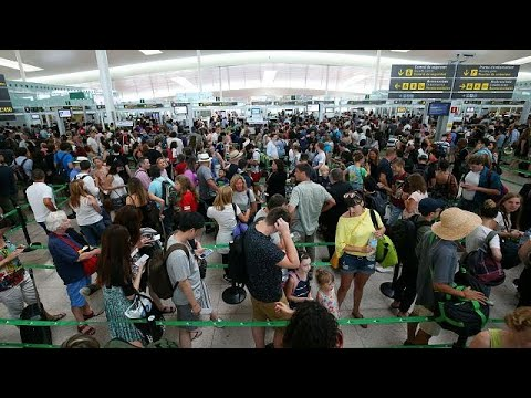 Passengers warned to arrive early at European airports this weekend to avoid chaos at passport…