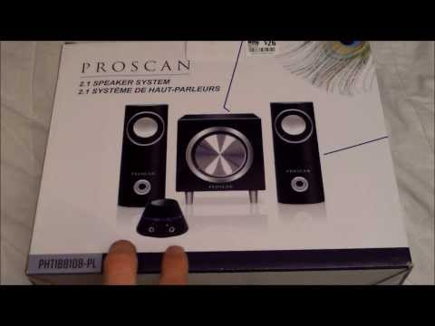 Proscan 2.1 Speaker System: Unboxing and Review