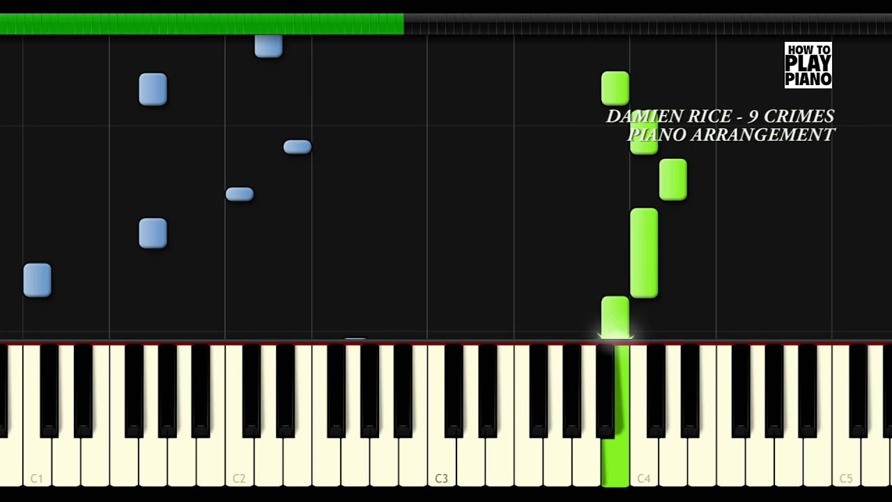 Damien Rice 9 Crimes Synthesia Piano Cover Youtube