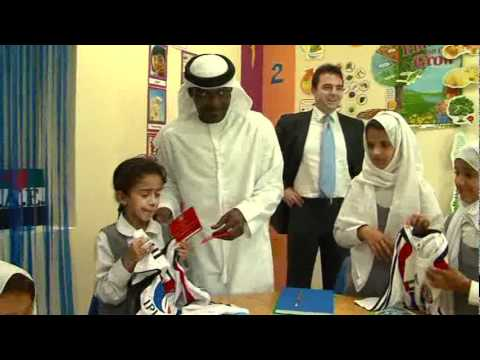 Al Jazira CEO & players visit to Care & Rehabilitation Center- Abu Dhabi