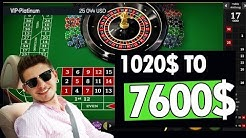 Roulette - 1020$ turned into 7600$ [BaccaratXL]