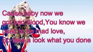 Taylor Swift~ Bad Blood Lyrics~Ft.Kendrick Lemar (Official Lyrics!)