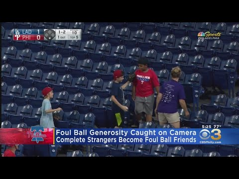 Dan Holzman - Young Phillies fan gives away a foul ball and is rewarded later