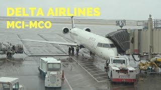 Delta First Class | CRJ 900 | MCI to MCO
