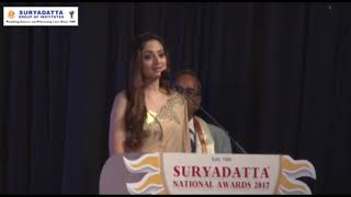 Ms. Zoya Afroz, was invited at SGI's 19th Foundation Day 2017