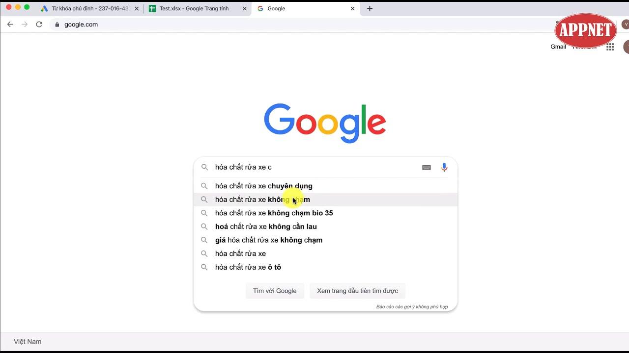 Hướng dẫn sử dụng công Google Suggest để tìm kiếm từ khóa