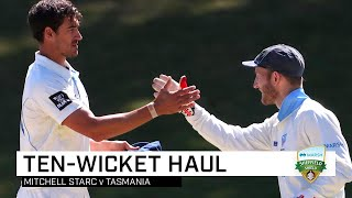Dominant Starc tunes up for T20Is with Shield 10-for