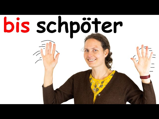 Conversational Swiss German. Saying Bye