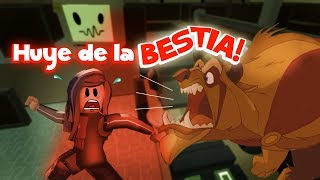 flee from the beast clau and edu FLEE the FACILITY roblox in Spanish giving robux