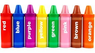 Colors with Sorting Crayons  | Colors for Kids | Colorful toys | Colorful Crayons