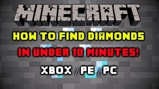 Minecraft - How To Find Diamonds, Gold, and Iron - Fast and Easy! Xbox/PC/PE