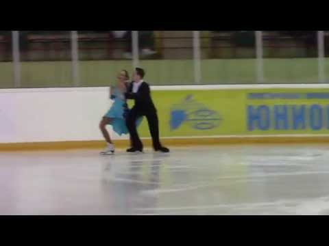 Rostelecom Crystal Skate 2015  Ice Dance, Advanced Novices  ПТ1 3 P  MISHCHANCHUK  U  ZAITSAU BLR