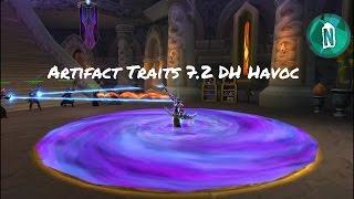 Unlocking Artifact Traits Havoc Demon Hunter | Wow legion patch 7.2 The Tomb of Sargeras