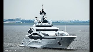 AL LUSAIL | Maiden voyage from the mega yacht after delivery to the new owner | 4K-Quality-Video