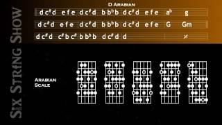 D Arabian Scale Guitar Backing Track