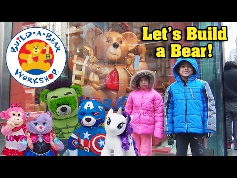 World's Largest BUILD-A-BEAR WORKSHOP in New York! Bear Shopping!