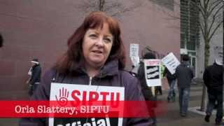Strike at Tyndall National Institute, University College Cork, 19th February 2014