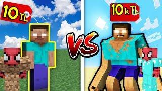 10 TL FAKİR HEROBRİNE VS 10.000 TL ZENGİN HEROBRİNE - Minecraft