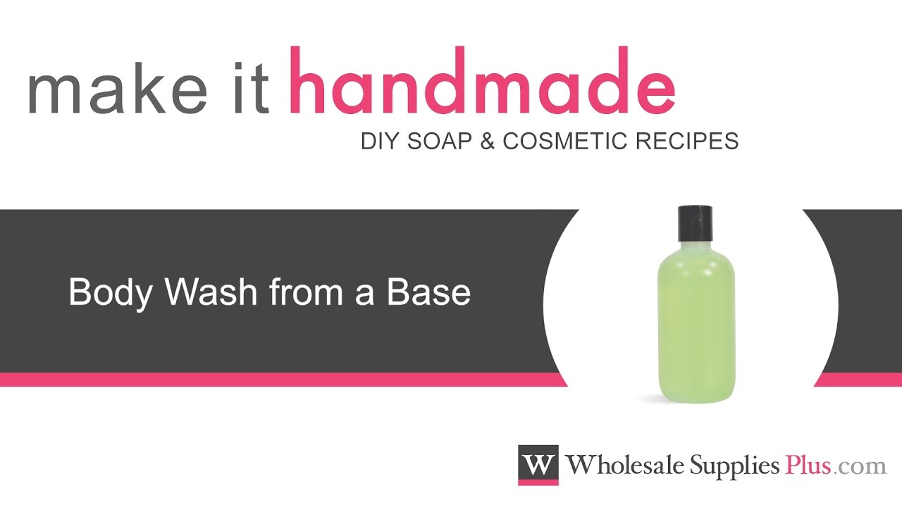 how to make body wash from scratch