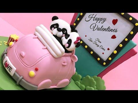 Valentines panda cake tutorial
