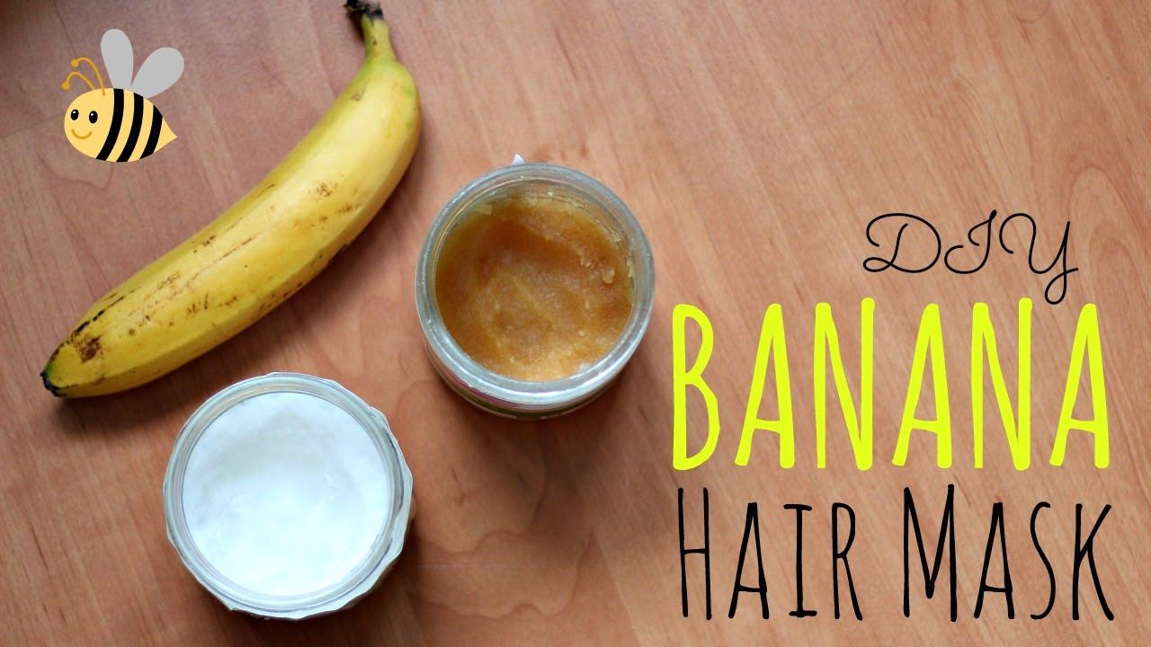 Diy Banana Mask For Dry Hair Youtube
