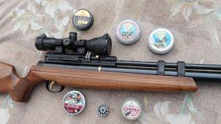 турецкая винтовка Хатсан АТ 44-10.Часть 2.Стрельба разными пульками на 40 м
