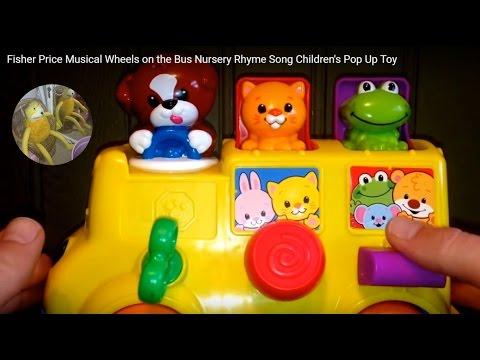Wheels of the bus nursery rhyme Fisher Price disney ...  |Fisher Price Bus Nursery Rhymes