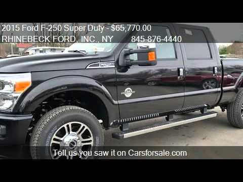 2015 Ford F 250 Super Duty Lariat Platinum For Sale In Rhine Youtube