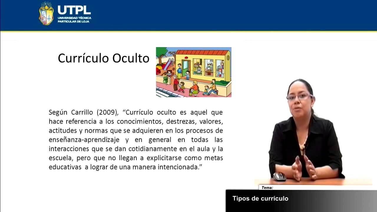 UTPL TIPOS DE CURRÍCULO [(CIENCIAS DE LA EDUCACIÓN) (PLANIFICACIÓN ...