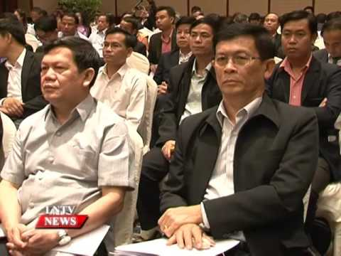 Lao NEWS on LNTV: Laos is planning its industrial development strategy for 2016-2030.31/3/2016